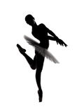 Beautiful shadow silhouette of ballerina 4 Stock Photo