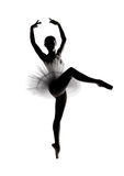 Beautiful shadow silhouette of ballerina 5 Royalty Free Stock Image
