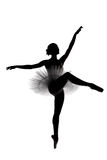 Beautiful shadow silhouette of ballerina 7 Royalty Free Stock Photo