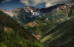 Beautiful Shadows and Light on Bear Creek in Telluride, Colorado Stock Photography