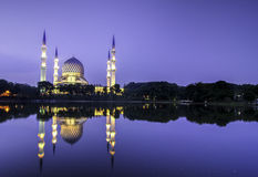 The beautiful of Shah Alam Mosque Stock Images