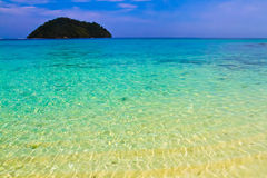 Beautiful of Shallow tropical water and sandy beach at Koh Lipe Stock Photography