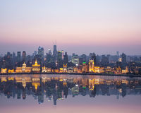 Beautiful shanghai bund in nightfall Stock Photos