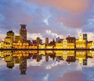 Beautiful shanghai bund in sunset Stock Photos
