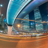 Beautiful shanghai city center at night Royalty Free Stock Photo