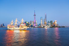 Beautiful Shanghai city landmark buildings Royalty Free Stock Photography