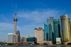 Beautiful shanghai city location. Beautiful modern building shanghai city location Stock Photography