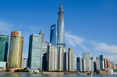 Beautiful shanghai city location. Beautiful modern building shanghai city location Royalty Free Stock Image