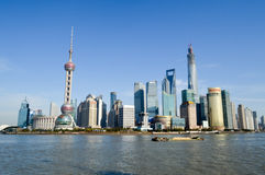 Beautiful shanghai city location. Beautiful modern building shanghai city location Royalty Free Stock Images