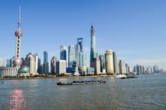 Beautiful shanghai city location. Beautiful modern building shanghai city location Stock Image