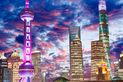 Beautiful Shanghai city night. In China Royalty Free Stock Photo