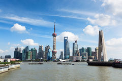 Beautiful shanghai at daytime Stock Photography
