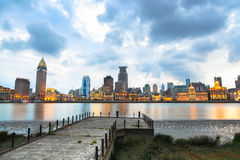 Beautiful shanghai at dusk Royalty Free Stock Photos