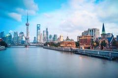 Beautiful shanghai in dusk Stock Photo