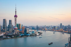 Beautiful shanghai at dusk Stock Image