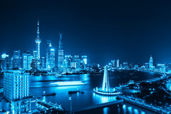 Beautiful shanghai at night Stock Photography