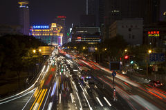 Beautiful Shanghai night Royalty Free Stock Image