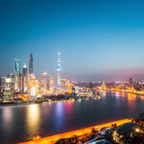 Beautiful shanghai at night Stock Photos