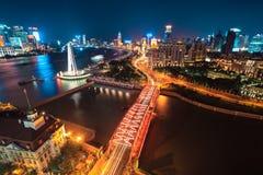Beautiful shanghai at night Royalty Free Stock Photos
