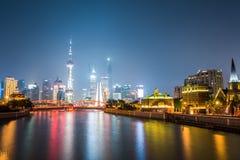 Beautiful shanghai at night Royalty Free Stock Image
