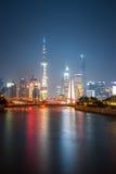 Beautiful shanghai at night Stock Photo