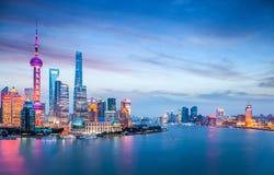 Beautiful shanghai in nightfall Stock Photography