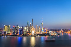 Beautiful shanghai in nightfall Royalty Free Stock Photo