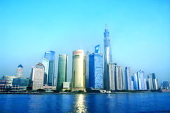 Beautiful Shanghai Pudong skyline Stock Photos