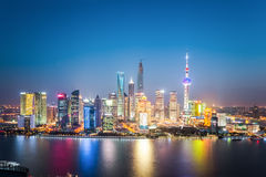 Beautiful shanghai skyline at night Stock Image