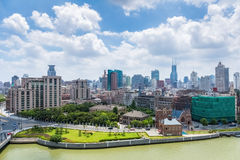 Beautiful shanghai by the suzhou riverside Stock Photography