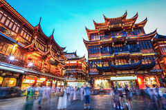 Beautiful shanghai yuyuan garden at night Royalty Free Stock Images