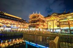 Beautiful shanghai yuyuan garden at night Royalty Free Stock Photography