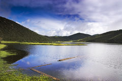 Beautiful Shangri-La lake Stock Images