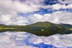 Beautiful Shangri-La lake Stock Photo