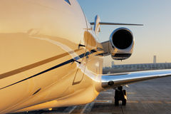 Beautiful shape of a private jet. The beautiful sculptural shape of a citation, the private jet parked at Dubai International Airport Royalty Free Stock Photography