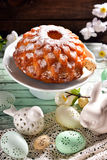 Beautiful shaped easter cake Royalty Free Stock Photo
