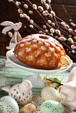 Beautiful shaped easter cake Stock Image