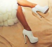 Beautiful shapely female legs Stock Photo