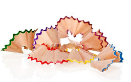 Beautiful shavings from colored pencils Royalty Free Stock Photos