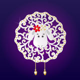Beautiful sheep,  illustration Royalty Free Stock Photography