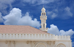 Beautiful Sheikh Isa Bin Ali Mosque minaret Stock Images