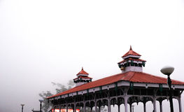 Beautiful shelter in shimla. Beautiful shelter covered in fog. Taken in Shimla India on a cold foggy day Royalty Free Stock Photo