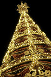 Beautiful shining abstract christmas trees Stock Photography