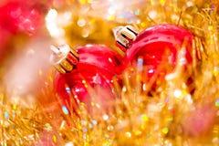 Beautiful shining Christmas ornaments Royalty Free Stock Images