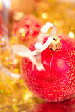 Beautiful shining Christmas ornaments Stock Photo