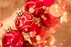 Beautiful shining Christmas ornaments Royalty Free Stock Photos