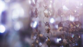 Beautiful shining elegant crystals background. stock footage