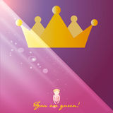 Beautiful shining princess crown, Royalty Free Stock Photo