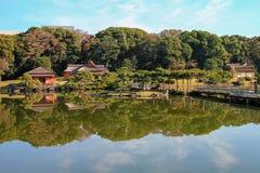 Beautiful Shinjuku park in Tokyo, Japan stock photo
