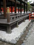 Beautiful shinto shrine and its architectural details royalty free stock photos